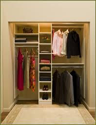 Small Closet Design Ideas With Enchanting White Wooden Material