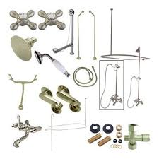 rers vintage shower package double offset supply metal cross