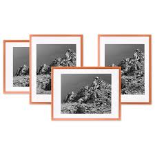 koyal whole rose gold gallery wall frames with white mats 8 x 10 picture frame bulk 4 pack vertical or horizontal