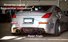 Custom Rear Bumper Lights I C E Electronics 350z 370z Uk