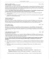 Resume Objectives For Administrative Assistants Examples Admin