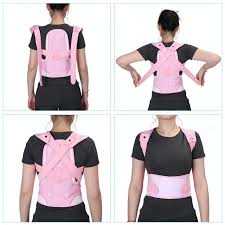Adjustable Children Kid Posture Corrector Brace Belt Spine Waist Shoulder Support Corset Back Pink Foot Care
