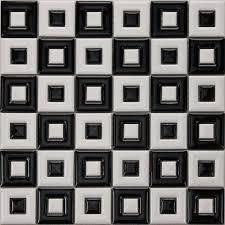 black white ceramic mosaic bathroom floor tiles uniform porcelain window patterns designs bwc9003