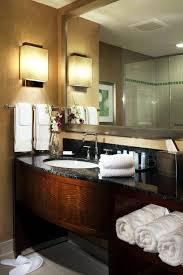 pics of bathroom designs: bathroompretty classic guest bathroom idea with brick shower wall and pedestal sink stylish guest