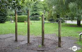 outdoor fitness at trim trail in london park