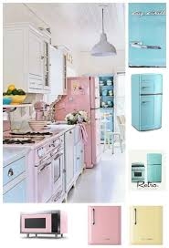 Have you seen a cooler fridge? Colorful Pink Retro Refrigerator by Big  Chill! Click