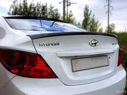 Лип <b>Спойлер на кромку багажника</b> Hyundai Solaris — купить в ...