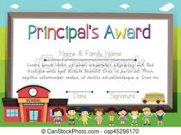 Principal Award Certificate Certificate Template For Principal Award