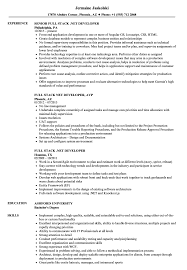 Net Developer Resume Sample Full Stack NET Developer Resume Samples Velvet Jobs 82