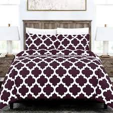 coastal comfort italian luxury quatrefoil duvet cover set