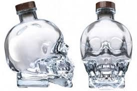 crystal head vodka in skull bottle