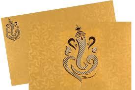 ganesha wedding card in golden yellow colour wedding cards Wedding Invitation Ganesh Pictures ganesha wedding card in golden yellow colour wedding cards pinterest wedding card, invitation cards online and royal weddings Ganesh Invitation Blank