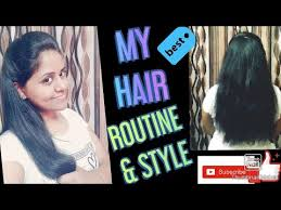 my hair routine hair straightening
