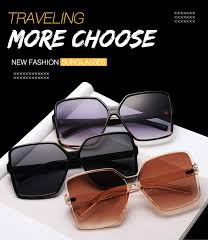 Higody <b>Fashion Women Oversize Sunglasses</b> Gradient Plastic ...