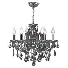 worldwide lighting catherine collection 6 light chrome crystal chandelier