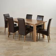 Worthy Solid Oak Dining Table With 6 Chairs D21 In Stylish Home