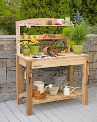 Potting Table Potting Bench Two Women And A Hoear