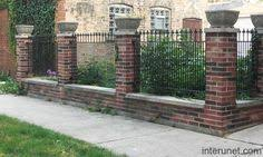 wrought iron fence brick. Wrought Iron Fence With Brick Columns Boat R