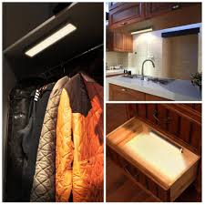 closet lighting. InnoGear Under Cabinet Lighting Counter Closet Light Warm White Motion Sensor Detector Magnetic Stick-on W