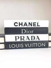 Designer Books Decor Classy Fashion Designer Inspired Books Set Fashion Book Set Fashion