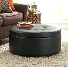 leather ottomans round storage ottoman brown leather coffee table best round leather coffee table round leather