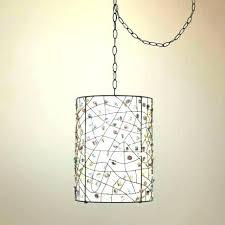 pendant lighting plug in. Swag Pendant Light Hanging Lamp Plug In . Lighting