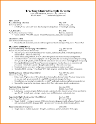 Teaching Resume Writing To High School Students Middle Cv Esl