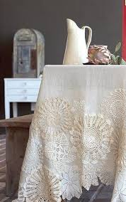 Pin by Penny Dunn on Craft | Doilies crafts, Vintage tablecloths, Vintage  embroidery