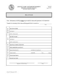 watercraft bill of sale download free arizona watercraft bill of sale form form