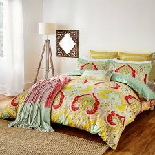 echo jaipur paisley print bedding at bedeck