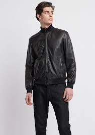 semi aniline nappa leather er jacket with a soft feel