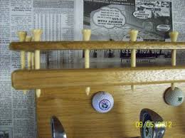 Golf Coat Rack Segmented Bowl And Golf Themed Shelf And Coat Rack By Willie 25