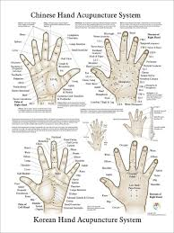 Chinese Korean Hand Therapy Hand Acupuncture Chart