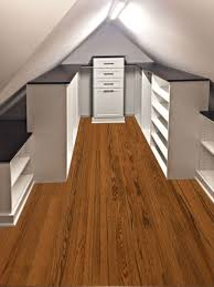 Small Picture Closet Storage Solution for Slanted Ceiling and Sloped Walls