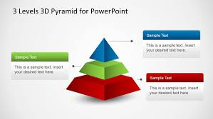 Pyramid Ppt 3 Levels 3d Pyramid Template For Powerpoint
