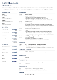 Civil Engineer Resume Examples Guide 20 Tips