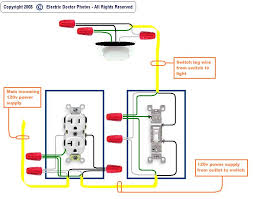 can i wire two ceiling lights off of the same switch and if Light Switch Receptacle Wiring Diagram Light Switch Receptacle Wiring Diagram #56 light switch with receptacle wiring diagram