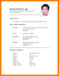 Resume Sample Pdf Sample Of Cv For Job Application Pdf Cv Format For