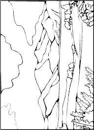 Landschap Kleurplaten Kleurplateneu