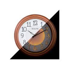 w aged copper round wall clock c4866