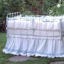 lulla smith dora irish linen crib bedding set
