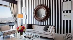 Gorgeous Living Rooms with Striped Accent Walls