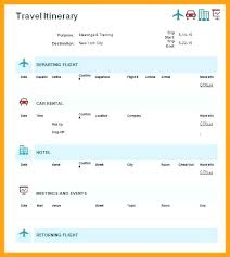 Travel Trip Planner Simple Travel Itinerary Template