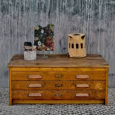 vintage plan chest coffee table with