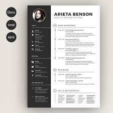 Resume Template Indesign Simple Premium Resume Templates Premium Resume Templates Free Resume