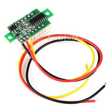 0 28inch 0 100v three wire dc voltmeter red robu in n dc 3 30v 3 wire yellow led display digital voltage voltmeter panel