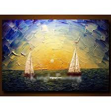 hand paint modern palette knife textured sea oil painting on canvas wall art canvas high quality