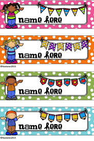 editable happy kids polka dots desk name tags contains 8 blank editable happy kids