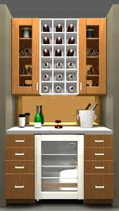 Beautiful bar design is also possible with IKEA, only 87 wide in Adel Beech
