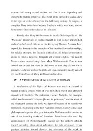 analysis of mary wollstonecraft s vindication   6 women